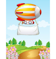 A blimp with a banner vector image vector image