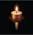 a small burning candle vector image