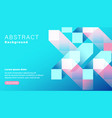abstract geometric shape pastel blue and pink vector image