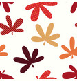 abstract natural leaves seamless pattern vector image vector image