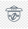 american football team emblem concept linear icon vector image