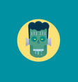 angry zombie character halloween poster vector image
