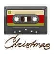 Audio cassette tape Film written Christmas vector image vector image