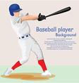 Baseball player vector image vector image