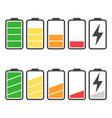 battery icon set isolated on white background vector image