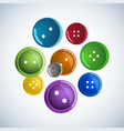 beautiful colorful glossy buttons clothes on a vector image vector image