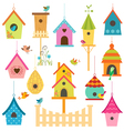 Bird houses vector image vector image