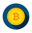 bitcoin money circle icon vector image vector image