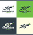 cannon and pixels logo and icon vector image vector image