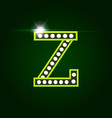 casino and resort letter z luxury letter with vector image