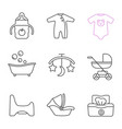 childcare linear icons set vector image