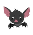 Cute cartoon bat character vector image vector image