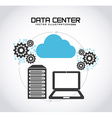 data center vector image vector image