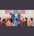 democrat winner united states presidential vector image vector image
