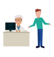 doctor and patients vector image