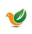 eco bird logo vector image