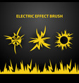electric brush pattern vector image