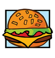 Fast food cartoon vector image vector image