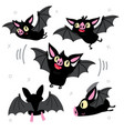 funny flying bat child graphic set vector image vector image