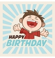 Happy Birthday design kid icon Colorfull graphic vector image