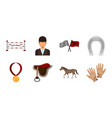 hippodrome and horse icons in set collection for vector image vector image