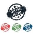 Ho Chi Minh stamp set vector image