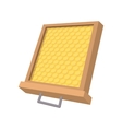 Honeycomb frame cartoon icon vector image vector image