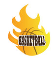 isolated basketball ball vector image vector image
