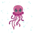 Jelly Fish Drawing vector image vector image