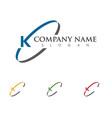 k letter arrows icon logo template design vector image