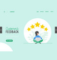 landing page template review concept vector image