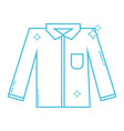 line clean shirt style design icon vector image