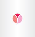 logotype circle letter y symbol icon vector image vector image