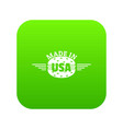 made in usa icon green vector image vector image