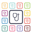 medical flat icons set vector image vector image