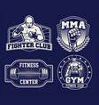 mma training badge set vector image vector image
