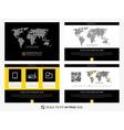Modern business presentation graphic design vector image vector image