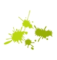 Paintball green blots flat icon vector image vector image
