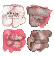 pink abstract watercolor background vector image vector image