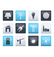 power energy and electricity icons vector image vector image