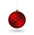 red christmass ball hanging on a golden chain vector image
