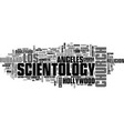 scientology word cloud concept