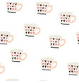 seamless pattern with scandinavian style cups vector image vector image