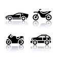 Set of transport icons - sports transportation vector image