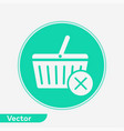 shopping basket icon sign symbol vector image