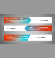 simple geometric banners 07 vector image vector image
