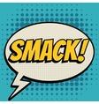 Smack comic book bubble text retro style vector image vector image