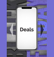 smartphone special offers realistic banner vector image vector image