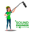 sound engineer man professional vector image