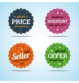 Special set of premium sale badges in flat style vector image